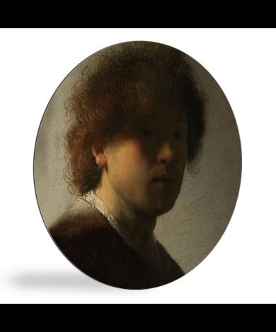 Zelfportret van Rembrandt - Schilderij van Rembrandt van Rijn wandcirkel