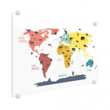 Dieren kleuren plexiglas