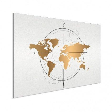 Kompas groot goud aluminium