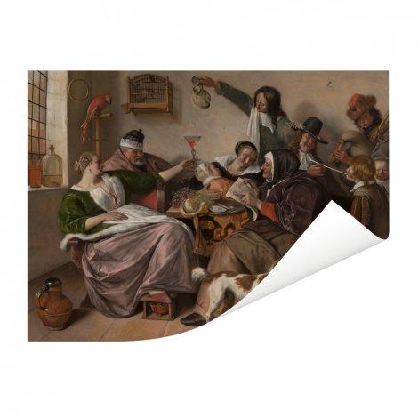 Soo voer gesongen soo na gepepen - Schilderij van Jan Steen Poster