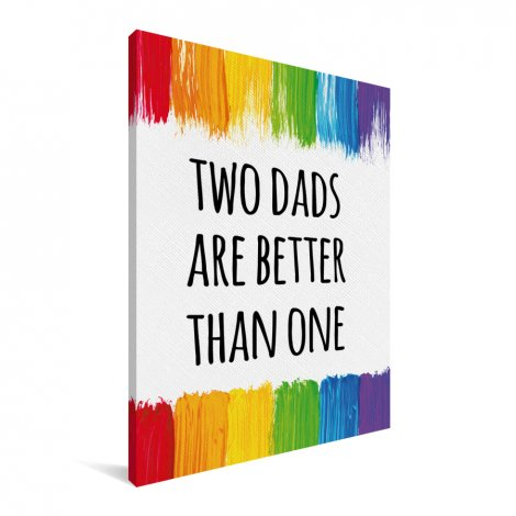 Vaderdag - Two dads are better than one Canvas