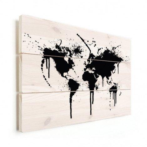 Zwarte inkt hout