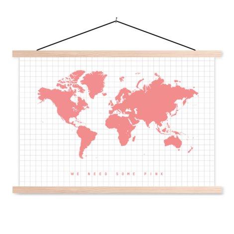 Roze textielposter