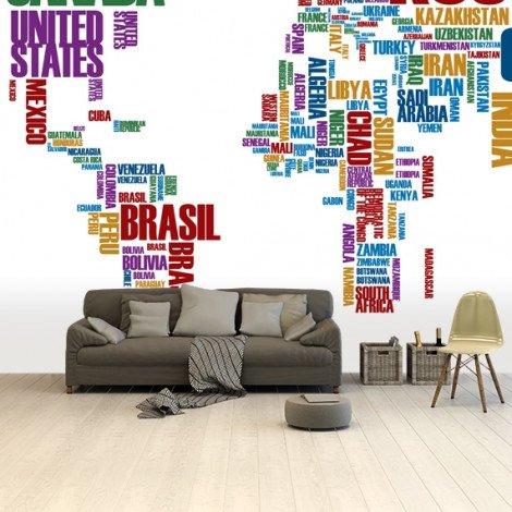 Tekst kleur behang