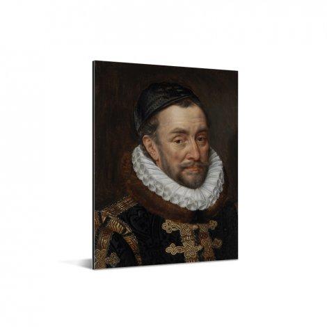 Willem van Oranje - Schilderij van Adriaen Thomasz Aluminium