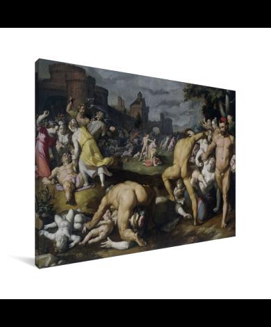 De kindermoord in Bethlehem - Schilderij van Cornelis Cornelisz van Haarlem Canvas