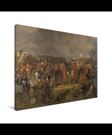 De Slag bij Waterloo - Schilderij van Jan Willem Pieneman Canvas