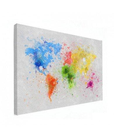 Gekleurde inkt splash canvas
