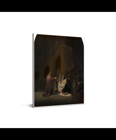 Het loflied van Simeon - Schilderij van Rembrandt van Rijn Aluminium