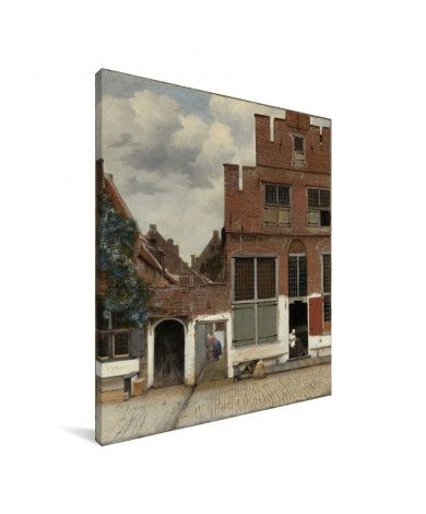 Het straatje - Schilderij van Johannes Vermeer Canvas