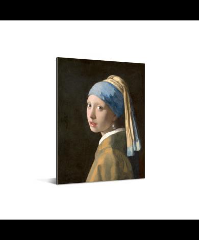 Meisje met de Parel - Schilderij van Johannes Vermeer Aluminium