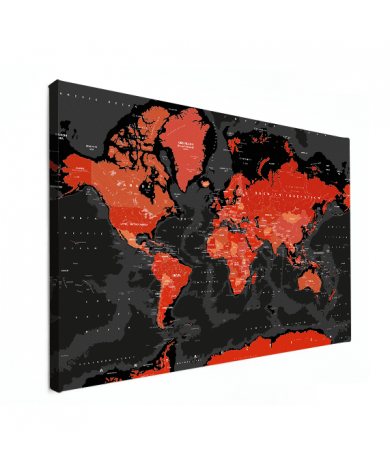 Rood - zwart canvas
