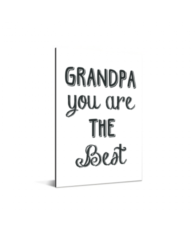Vaderdag - Grandpa you are the best Aluminium