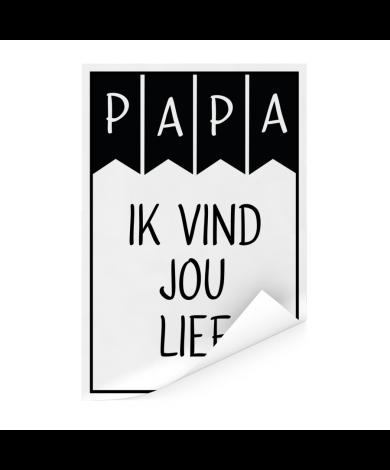 Vaderdag – Papa ik vind jou lief Poster