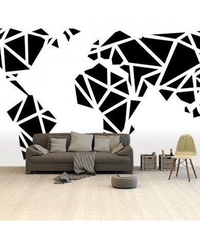 Geometrisch - zwart behang