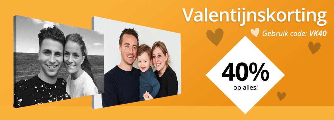 Foto op canvas Valentijnkorting