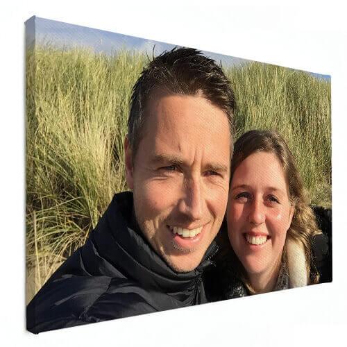gezinsfoto op canvas winterkorting