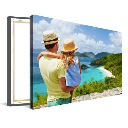 Foto op canvas vader met kind