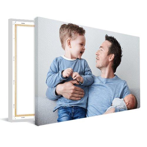 Foto op canvas vader met kinderen