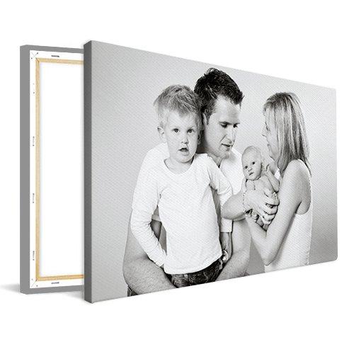 Foto op canvas met gezin