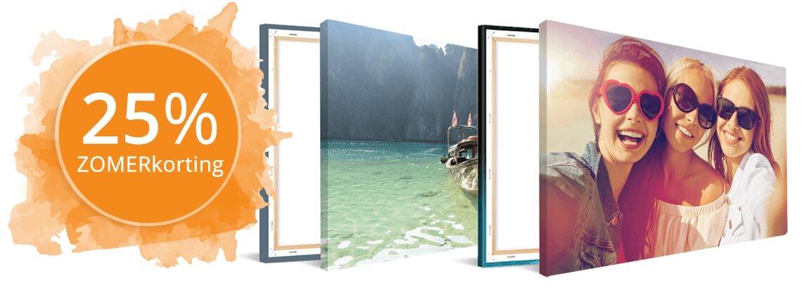 Foto op canvas zomerkorting