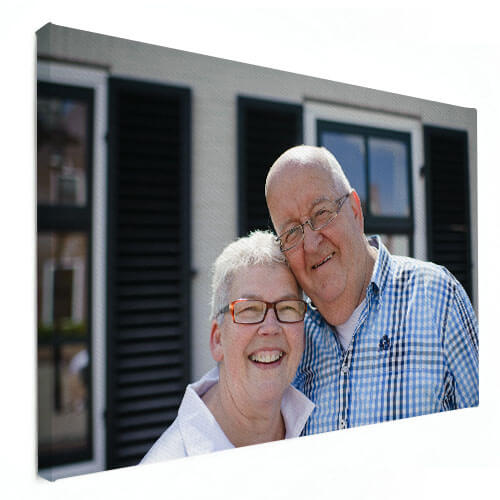 Foto op canvas getrouwd stel
