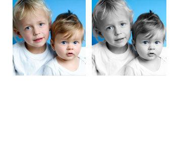 Foto bewerkt met kleuraccent