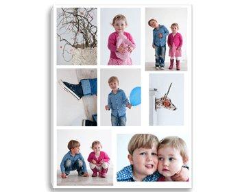 Fotocollage op canvas broer en zus