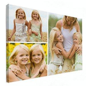 Fotocollage op canvas zusjes