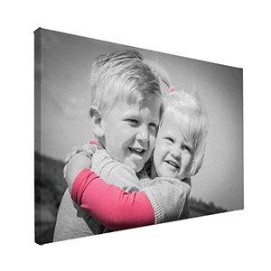 Foto op canvas fotobewerking met kleuraccent