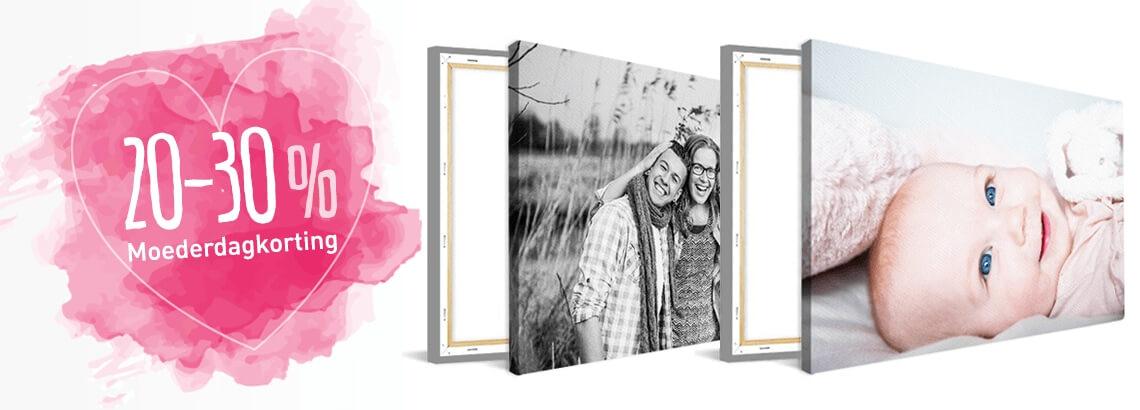 Foto op canvas moederdagaanbieding