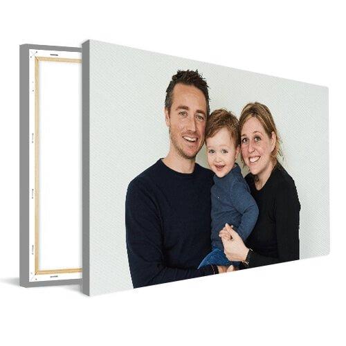 Foto op canvas jong gezin