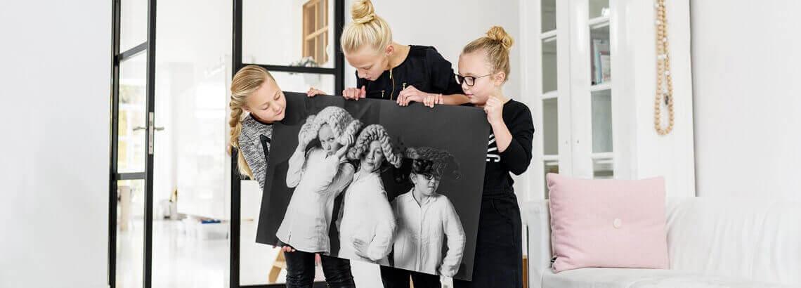 Zwart wit foto op canvas